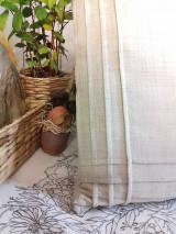 """Úžitkový textil - Ľanový vankúš """" Plisé """" - 12921187_"""