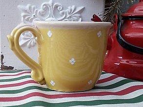 Nádoby - Žltý hrnček na čaj - 12923120_