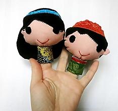 Hračky - Sada maňušiek na prst (Omar a Fatima / Aladdin a Jasmína) - 12925234_