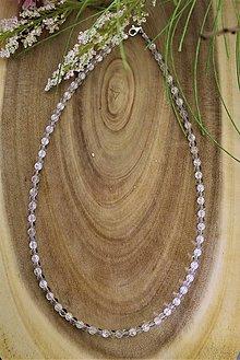Náhrdelníky - krištál náhrdelník - zapínanie striebro Ag925/1000 - 12925089_