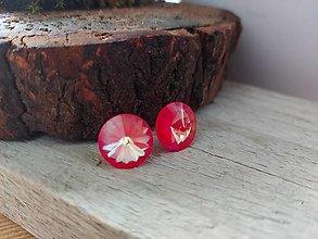 Náušnice - Swarovski rose neon - 12925587_