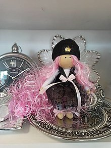Dekorácie - Luxury textil doll QUEEN - 12922112_