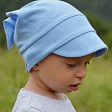Detské čiapky - Letná vzdušná šatka modrá - 12921066_