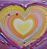 Obrazy - Obraz srdce - originál obraz - 12921719_
