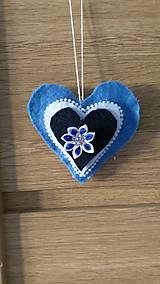 Dekorácie - Modré srdiečka - 12924725_