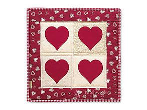 Úžitkový textil - Obliečka na vankúš Štyri srdcia č.2 - 12922007_