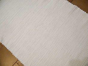 Úžitkový textil - Tkaný koberec biely 50 cm x 70 cm - 12924324_