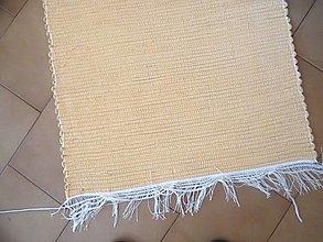 Úžitkový textil - Tkaný koberec horčicový - 12924734_