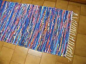 Úžitkový textil - Tkaný koberec pestrofarebný 13 - 12925897_