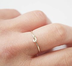Prstene - Uzol prsteň - 12929262_