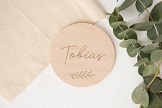 Tabuľky - Miľníková kartička s menom - 12929061_