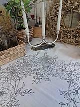 """Úžitkový textil - Maľovaný ľanový obrus """"Kvetinový veniec"""" - 12926328_"""