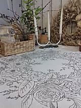 """Úžitkový textil - Maľovaný ľanový obrus """"Kvetinový veniec"""" - 12926342_"""