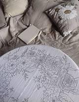 """Úžitkový textil - Maľovaný ľanový obrus """"Kvetinový veniec"""" - 12926348_"""