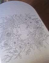 """Úžitkový textil - Maľovaný ľanový obrus """"Kvetinový veniec"""" - 12926351_"""