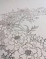 """Úžitkový textil - Maľovaný ľanový obrus """"Kvetinový veniec"""" - 12926368_"""