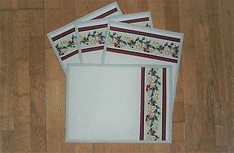 Úžitkový textil - Prestieranie so zimným vzorom - 12927222_