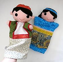 Hračky - Sada maňušiek na ruku (Omar a Fatima / Aladdin a Jasmína) - 12927781_