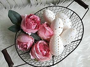 Dekorácie - Biele madeirové husacie kraslice - 12928105_