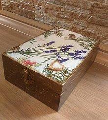 Krabičky - Krabica s levanduľou na všeličo - 12927539_