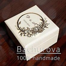 Darčeky pre svadobčanov - Krabička na svadobné prstienky - 12929062_