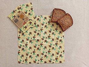 Úžitkový textil - Obrúsok s včelím voskom - včielka - 12927434_