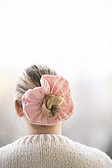 Ozdoby do vlasov - Mušelínová maxigumka (Ružová) - 12929416_
