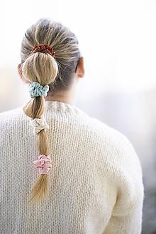 Ozdoby do vlasov - Mušelínová minigumka - 12929410_