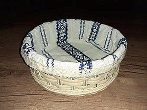 Košíky - Folklórny košík, modrý - 12930444_