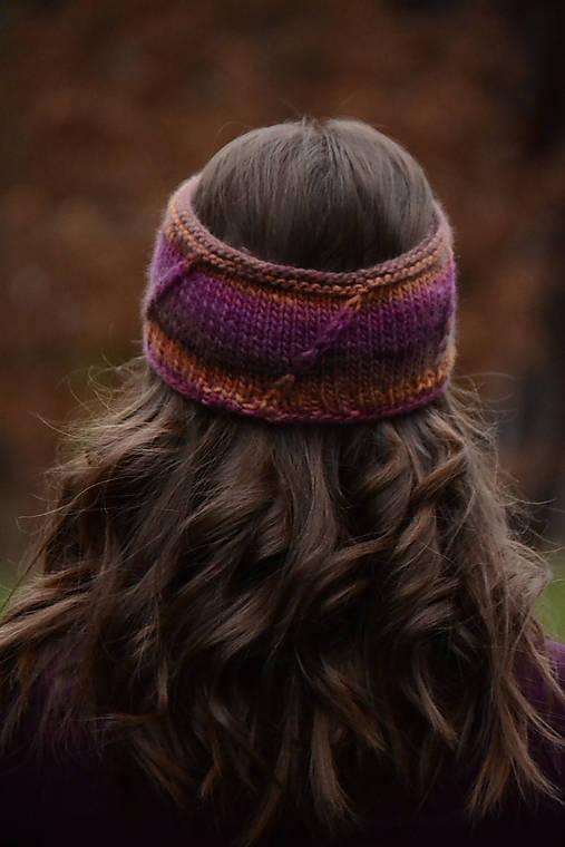 Ozdoby do vlasov - Čelenka CATHY, 100% merino - 12927867_