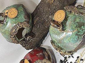 Socha - Vtáčia búdka guľatá (12x14cm - Zelená) - 12929542_