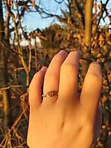 Prstene - Prsteň s červeným pruhovaným achátom - 12928904_
