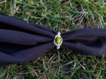 Prstene - Prsteň s olivínom - 12929573_