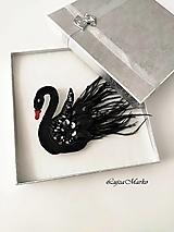 Odznaky/Brošne - Čierna labuť  - 12928761_
