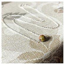 Náhrdelníky - Minimalist Necklace Ag925 - Unakite Bead / Minimalistický strieborný náhrdelník s unakitom - 12933784_