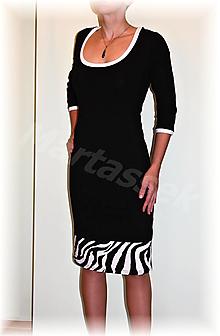 Šaty - Šaty černobílé - 12930707_