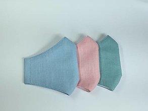 Rúška - Rúška ľanové,pastelové,skladom - 12930740_