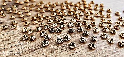 Korálky - Korálky 9x11 mm - Tibet - Antické zlaté - 12933558_