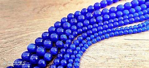 Korálky - Korálka Mačacie oko- kráľovská modrá (Korálka Mačacie oko - kráľovská modrá) - 12934260_