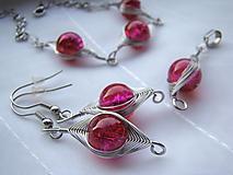 Sady šperkov - Jahodová...  antialergická súprava - 12935378_