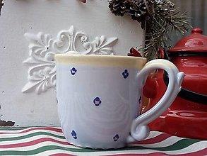 Nádoby - Modrý hrnček na čaj - 12932428_
