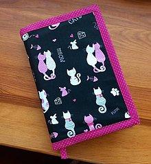 Papiernictvo - obal na knihu ružové mačičky - 12930798_
