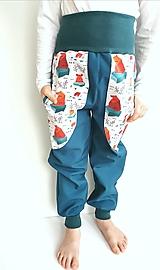 """Detské oblečenie - Softshellové nohavice """"polar bear"""" - 12935262_"""