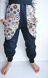 "Detské oblečenie - Softshellové nohavice ""blue&flowers"" - 12935283_"