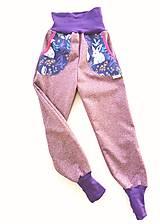 """Detské oblečenie - Softshellové nohavice """"purple&rabbit"""" - 12935389_"""