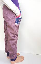 """Detské oblečenie - Softshellové nohavice """"purple&rabbit"""" - 12935397_"""