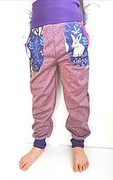 """Detské oblečenie - Softshellové nohavice """"purple&rabbit"""" - 12935400_"""