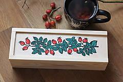 Krabičky - Drevená ručne maľovaná krabička na hodinky ŠÍPKY - 12932571_