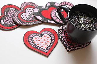 Pomôcky - Darček pre mamičku z lásky - srdiečkové podšálky a bio čaj dúška - 12932663_