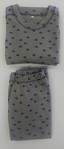 Oblečenie - Pánske pyžamo biobavlna - 12931157_